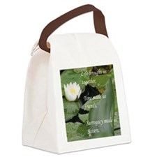 Sisters-LotusFlower... Canvas Lunch Bag
