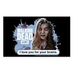 I Love Your Brains Sticker