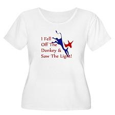 Democrat Donkey Converts Plus Size T-Shirt