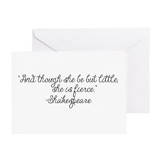 Though she be but little ~ Shakespeare Greeting Ca