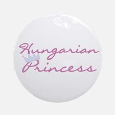 Hungarian Princess Crown Ornament (Round)