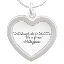 Though she be but little ~ Shakespeare Necklaces