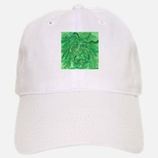 Green Abstract Face Painting Baseball Baseball Cap