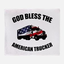American Trucker Throw Blanket