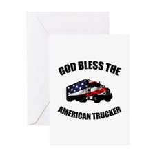 American Trucker Greeting Card