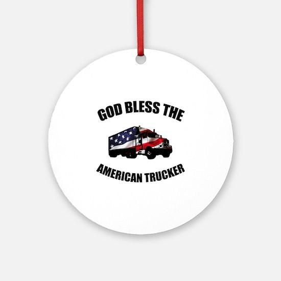 American Trucker Ornament (Round)