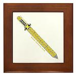 The Celtic Sword Framed Tile