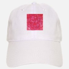 Red Abstract Face Baseball Baseball Cap