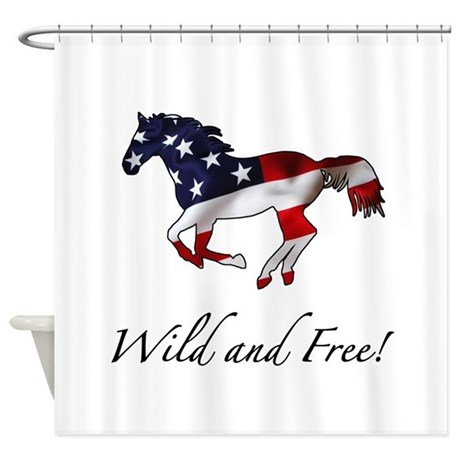 american horse shower curtain by thepixelgarden