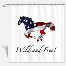American Horse Shower Curtain