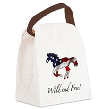 American Horse Canvas Lunch Bag