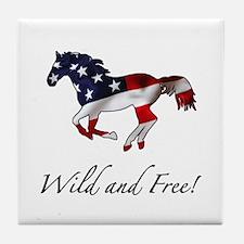 American Horse Tile Coaster