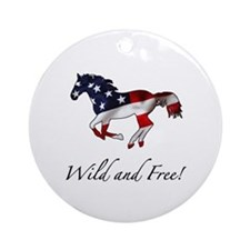 American Horse Ornament (Round)