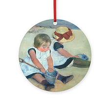 Mary Cassatt - Children Playing on the Beach Ornam