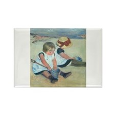 Mary Cassatt - Children Playing on the Beach Recta