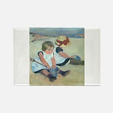 Mary Cassatt - Children Playing on the Beach Recta