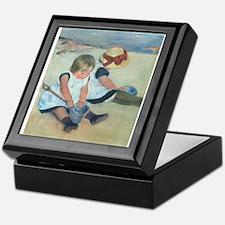 Mary Cassatt - Children Playing on the Beach Keeps