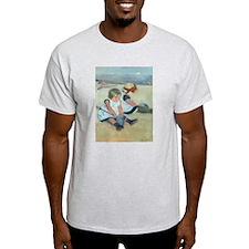 Mary Cassatt - Children Playing on the Beach T-Shi