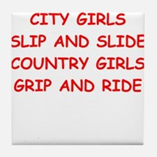 country girls Tile Coaster