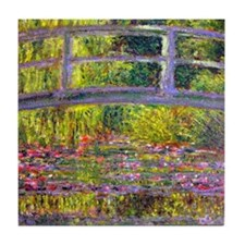 Monet Bridge at Giverny Tile Coaster