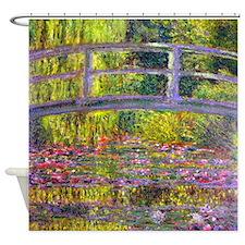 Monet Bridge at Giverny Shower Curtain