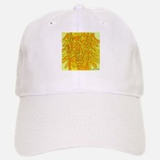 Yellow abstract Face Baseball Baseball Cap