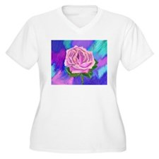 Prayer Rose Plus Size T-Shirt
