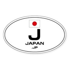 UN-Style Oval Automobile Sticker - Japan