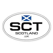 UN-Style Oval Automobile Sticker - Scotland