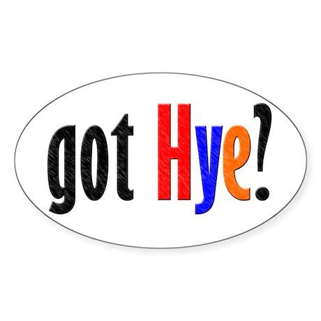 got Hye Oval Sticker