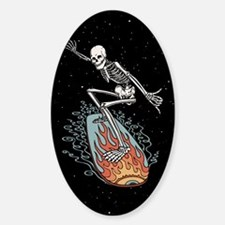 Bonehead Board Dude Sticker (Oval)