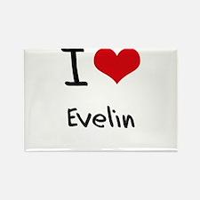 I Love Evelin Rectangle Magnet
