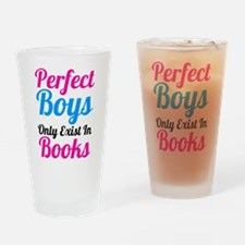 Perfect Boys Only Exist In Books Drinking Glass