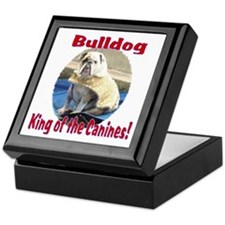Bulldog, King of the Canine Keepsake Box