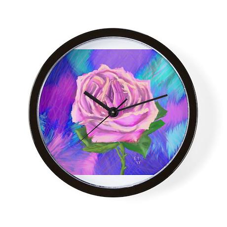 Prayer Rose Wall Clock