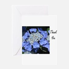 Thank You Blue and White Flower Greeting Card