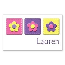 Daisies - Lauren Rectangle Decal