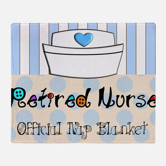 retired nurse official nap blanket Throw Blanket