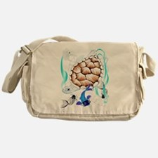 Big White Turtle and Friends Messenger Bag