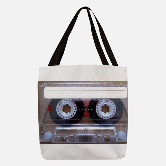 Cassette Music Tape Polyester Tote Bag
