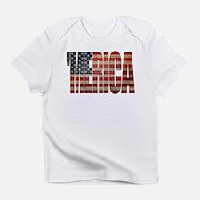 Vintage MERICA U.S. Flag Infant T-Shirt