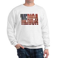 Vintage MERICA U.S. Flag Sweatshirt