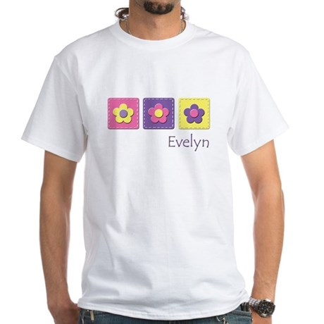 Daisies - Evelyn White T-Shirt