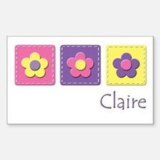 Daisies - Claire Rectangle Decal