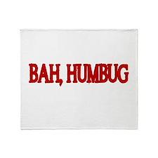 BAH,HUMBUG Throw Blanket
