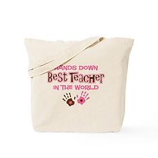 Hands Down Best Teacher Tote Bag