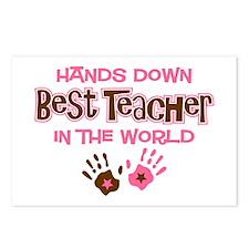 Hands Down Best Teacher Postcards (Package of 8)