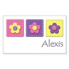 Daisies - Alexis Rectangle Stickers