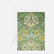 William Morris Floral Design Greeting Card
