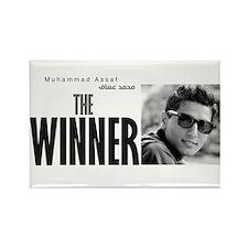 the winner Rectangle Magnet
